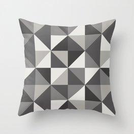 Modern Shades of Grey Throw Pillow