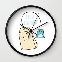 Tea pun coffee funny shirt gift Wall Clock