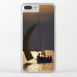 The day before the Barcolana race Clear iPhone Case