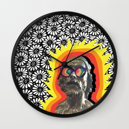Sculture Wearing Wacky Marble Glasses Wall Clock