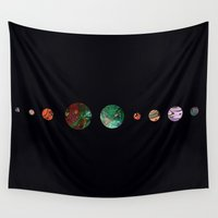 solar system Wall Tapestries featuring Another solar system by ShaMiLa
