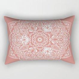Terra Cotta Mandala Rectangular Pillow