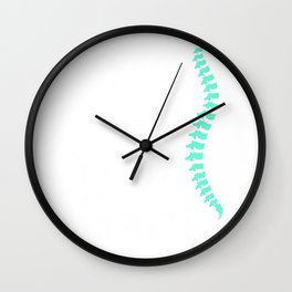 Funny I've Got Your Back Chiropractor Gift Product Wall Clock