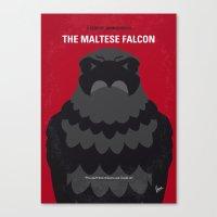 No780 My The Maltese Falcon minimal movie poster Canvas Print