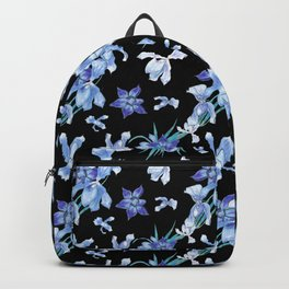 Orchid chic decor (blue & black palette) Backpack