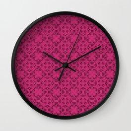 Pink Yarrow Shadows Wall Clock