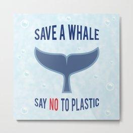 Save a Whale Metal Print