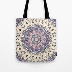 No. 20 Wisteria Arbor Way Regal Purple & Ivory Hugs and Kisses Mandala Tote Bag