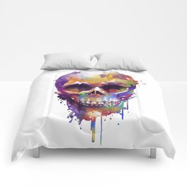 colorful skull Comforters