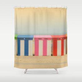 Beach cabins Malo Shower Curtain