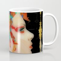 glitch Mugs featuring Glitch by Steve W Schwartz Art