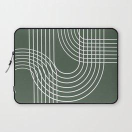 Minimalist Lines & Forest Green BG Laptop Sleeve