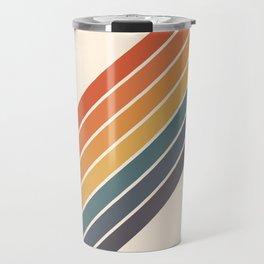 Arida -  70s Summer Style Retro Stripes Travel Mug