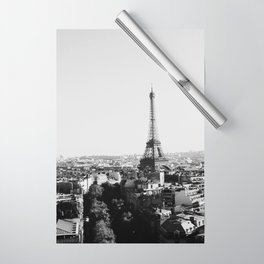 Paris City Sky // Eiffel Tower City Landscape Photography Shot from the top of Champs Elysees France Wrapping Paper