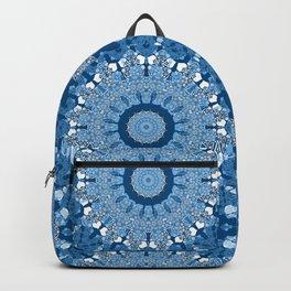 White blue kaleidoscope . Backpack