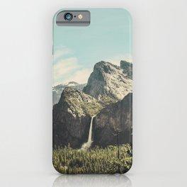Yosemite Valley Waterfall iPhone Case