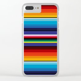 The Mexican Stripes Clear iPhone Case