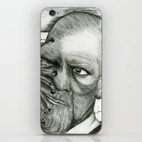 freud iPhone & iPod Skins featuring Freud by CasiRodriguez
