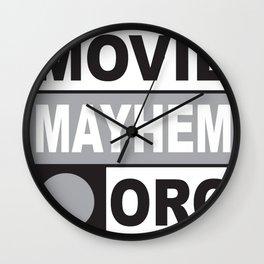 Movie Mayhem Wall Clock