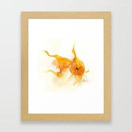 Watercolor Goldfish 1 Framed Art Print