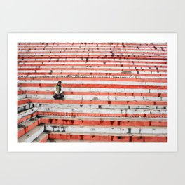 Meditation in Varanasi, India Art Print