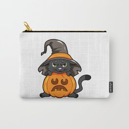 angry kitty Halloween Cat Witch present gift Carry-All Pouch