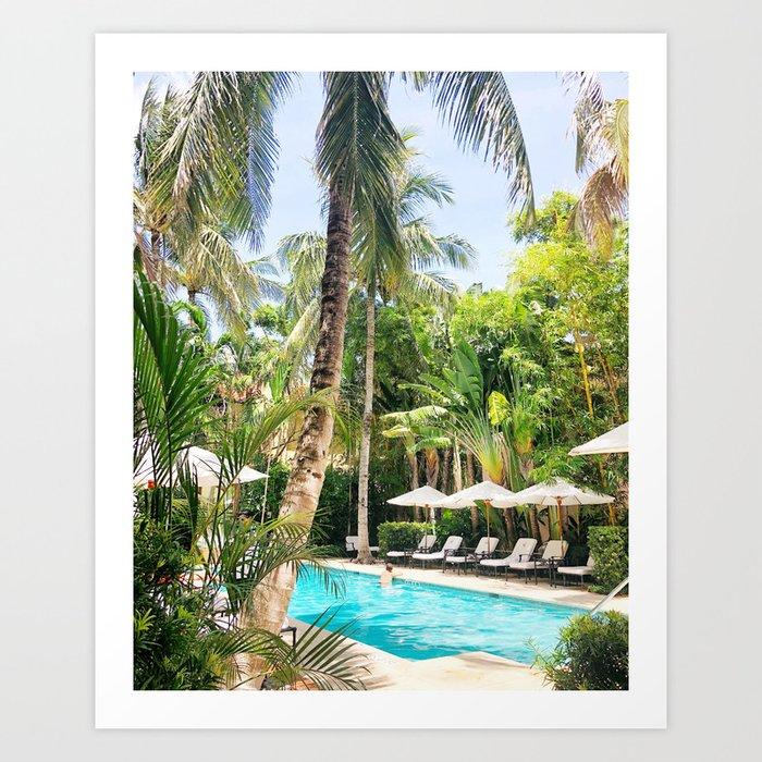 Brazilian Court Hotel pool Art Print
