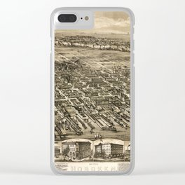 Map of Hoboken 1912 Clear iPhone Case