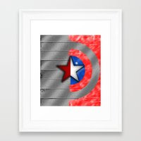 the winter soldier Framed Art Prints featuring Winter Soldier by Jorge Daszkal