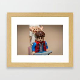 Watch out Marty! Framed Art Print
