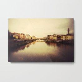 Arno River in Florence Metal Print