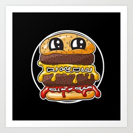 Fast Food FRENZY - Cheezy Carole Art Print