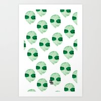 aliens Art Prints featuring aliens by LuisaMaria