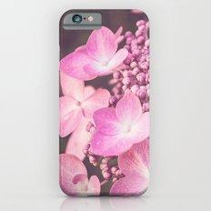 Botanical Pink Rose Purple Lace Cap Hydrangea Flower Slim Case iPhone 6s