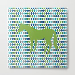 Greenery Unicorn V02 Metal Print