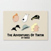 tintin Canvas Prints featuring Tintin, Minimalist by Faellen