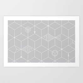 two fishes Art Print