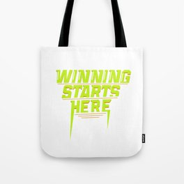 Winning Starts Here Running Runner 5K Fun Run Green Tote Bag
