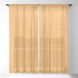 Solid Light Orange Sheer Curtain