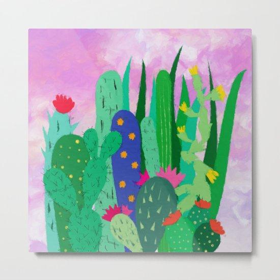Painted cacti Metal Print