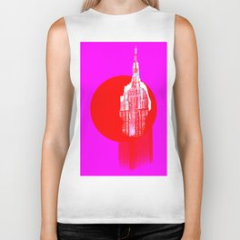 Architecture building red pink Biker Tank