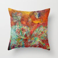 biology Throw Pillows featuring Synthetic Biology by Lennon Michalski