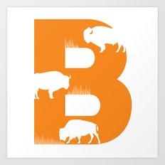 B is for Bison - Animal Alphabet Series Art Print