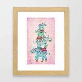 LUCKY ELEPHANTS Framed Art Print