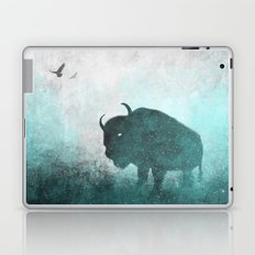 Teal Ghost: Bison Silhouette Laptop & iPad Skin