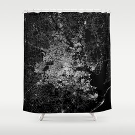 Houston map Shower Curtain