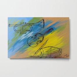 Musical Instruments Metal Print