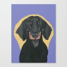 Cute Dog Puppy Dachshund Hot Dog Weiner Canvas Print