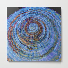 Blue World Metal Print