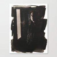 caleb troy Canvas Prints featuring troy gregory by kayla kopke